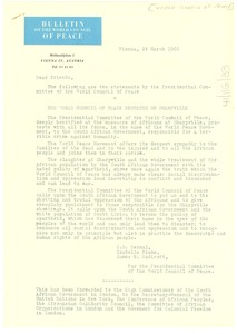 Thumbnail of Letter from World Peace Council to W. E. B. Du Bois