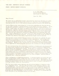 Thumbnail of Circular letter from Kenneth Ripley Forbes and Edwin Berry Burgum to W. E. B. Du Bois