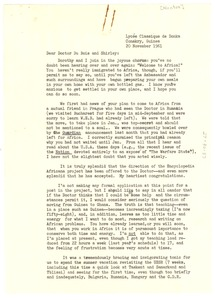 Thumbnail of Letter from Alphaeus Hunton to Shirley and W. E. B. Du Bois