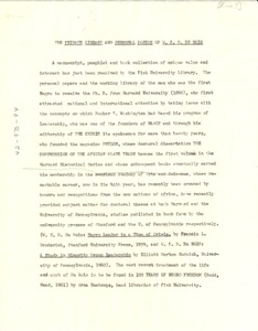 Thumbnail of The  private library and personal papers of W. E. B. Du Bois