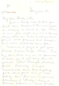 Thumbnail of Letter from Kathryn Popper to Shirley and W. E. B. Du Bois