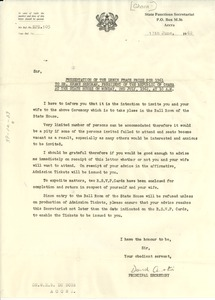 Thumbnail of Letter from Ghana Functions Secretariat to Kwame Nkrumah