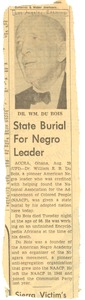 Thumbnail of State burial for Negro leader