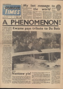 Thumbnail of Ghanaian Times, volume VI, number 1,703
