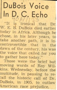 Thumbnail of DuBois voice in D.C. echo
