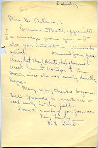 Thumbnail of Letter from G. S. Bond to W. E. B. Du Bois