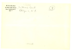 Thumbnail of Addressed envelope