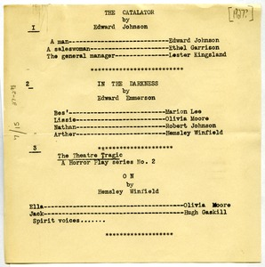 Thumbnail of Krigwa players playbill