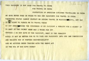 Thumbnail of Telegram from W. E. B. Du Bois to unidentified correspondent