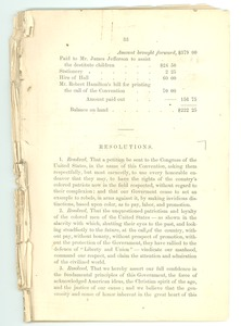 Thumbnail of Fragment of  the proceedings of the National Convention of Colored Men