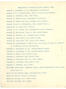 Thumbnail of Memorandum on lectures by W. E. B. Du Bois, 1922