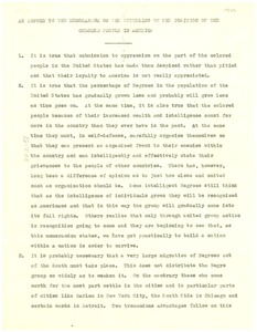 Thumbnail of An  answer to the memorandum on the bettering of the position of the colored people             in America