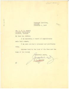 Thumbnail of Letter from W. A. Shields to W. E. B. Du Bois