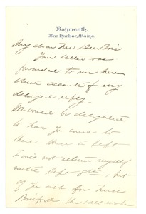Thumbnail of Letter from Jane Addams to W. E. B. Du Bois