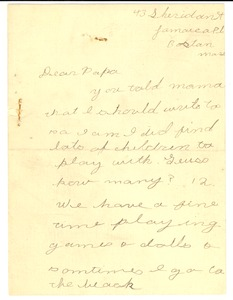 Thumbnail of Letter from Yolande Du Bois to W. E. B. Du Bois