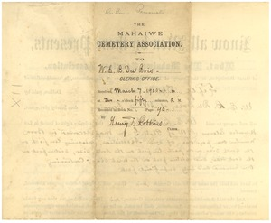 Thumbnail of Burial agreement between W. E. B. Du Bois and Mahaiwe Cemetery Association