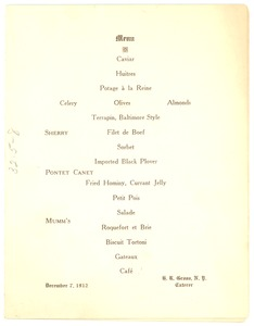 Thumbnail of N.A.A.C.P. dinner program [fragment]