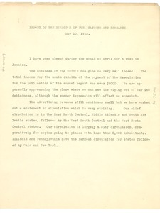 Thumbnail of Report of the director of publicity and research