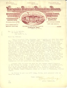 Thumbnail of Letter from H. A. Boyd to W. E. B. Du Bois