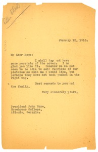 Thumbnail of Letter from The Crisis to John Hope
