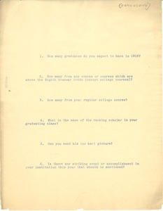 Thumbnail of Questions to be included in the Education number of The Crisis