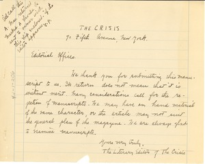 Thumbnail of Letter from the Crisis to unidentified correspondent