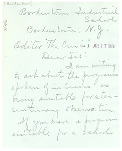 Thumbnail of Letter from Carrie W. Clifford to the Crisis