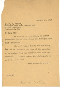 Thumbnail of Letter from the Crisis to the Carnegie Hero Fund Commission