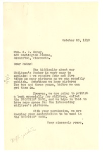 Thumbnail of Letter from W. E. B. Du Bois to C. C. Garey