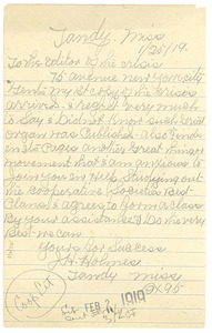 Thumbnail of Letter from J. H. Holmes to the Crisis