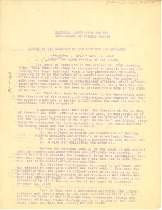 Thumbnail of Report of the director of publications and research