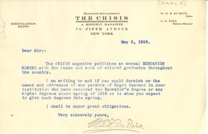 Thumbnail of Circular letter from Crisis to unidentified correspondent