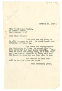 Thumbnail of Letter from W. E. B. Du Bois to Pocahontas Foster