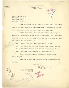 Thumbnail of Letter from R. P. Sims to W. E. B. Du Bois