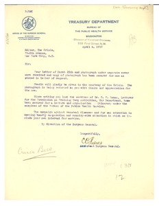 Thumbnail of Letter from United States Surgeon General to Editor of the Crisis