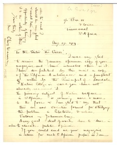 Thumbnail of Letter from Olive Warner to Editor of the Crisis