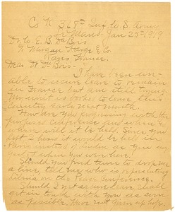 Thumbnail of Letter from William H. York to W. E. B. Du Bois
