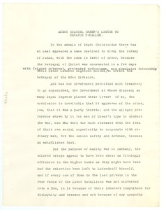 Thumbnail of Agent Colonel Greer's letter to Senator McKeller