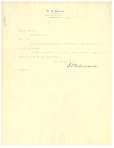 Thumbnail of Letter from S. D. Redmond to the editor of The Crisis