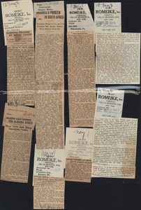 Thumbnail of Collage of newspaper clippings related to African American issues