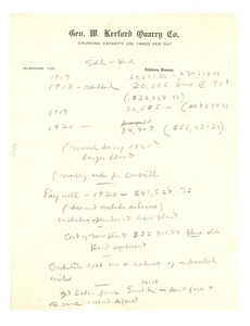 Thumbnail of Information about Geo. W. Kerford Quarry Co.