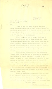 Thumbnail of Letter from S. D. Redmond to editor of Colliers Weekly