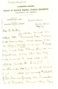 Thumbnail of Letter from A. Werner to Du Bois