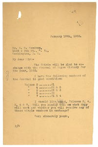Thumbnail of Letter from W. E. B. Du Bois to Carter G. Woodson