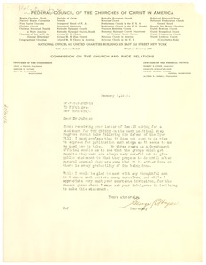 Thumbnail of Letter from George E. Haynes to W. E. B. Du Bois