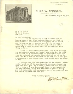 Thumbnail of Letter from Charles W. Abington to W. E. B. Du Bois