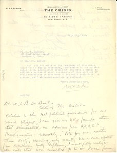 Thumbnail of Letter from W. P. Dabney to W. E. B. Du Bois