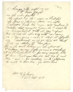 Thumbnail of Letter from William T. Johnson to Crisis