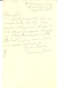 Thumbnail of Letter from Emma Jones to Editor of the Crisis