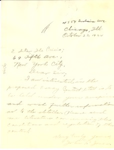 Thumbnail of Letter from John T. Jones to Editor of the Crisis